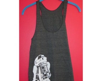 Star Wars R2-D2 Droid Dark Grey American Apparel Racer Bank Tank Top