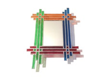 Stained Glass Mirror - Woven - 34cm x 25cm
