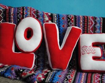 Letter Pillows LOVE