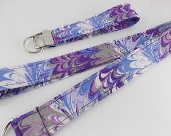 Purple Lanyard Teacher Lanyard Nurse Lanyard Work Lanyard Cloud Lanyard Swirl Lanyard ID Badge Holder Key Holder Car Keychain