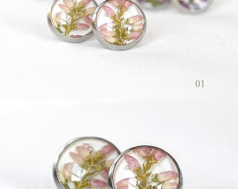Birthday gift for kids Best gift girl Tiny gift Pink earrings romantic Pink stud earrings pastel Crystal resin jewelry Everyday stud earring