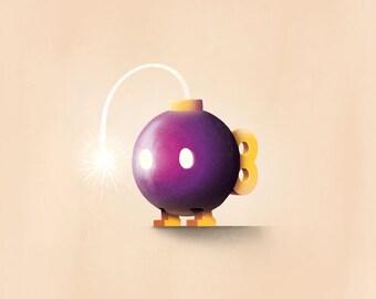 Mario Print / Bob-omb