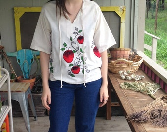 Embroidered Apple Tunic