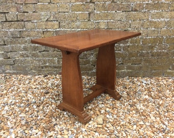 Art Deco oak side table coffee table occasional table