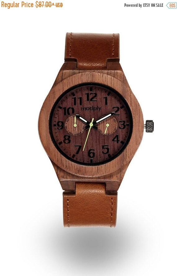 brown leather watches for mens watches wood by