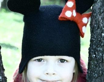 Felted hat for kids/woolen hat