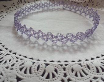 "Tattoo Choker- Grape (Plain or with ""Sprinkles"")"