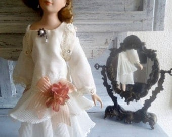 ICollectible doll,Porcelain doll vintage 50, French antique doll