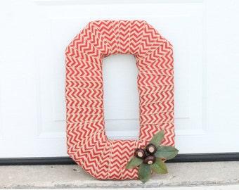 Ohio State Buckeye Burlap Wreath