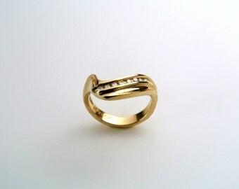 Wedding Band 14k Gold Diamond - Wedding Band Set - Rochester Wedding Bands - Engagement Ring Set - Wedding Ring Set