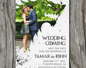 Winter Is Coming Game of Thrones Invitation/Save The Date