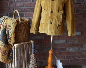 70s Corduroy Campus Coat /Boho/Hippie