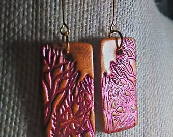 Tree Branches Rectangle Earrings
