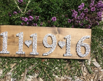 Date String Art Sign