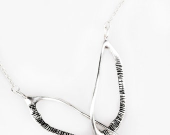 Silver Elegant Pendant Necklace, Modern Silver Necklace, Elegant Stylish Necklace, Statement Necklace, Jewelry Set