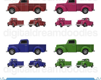 Truck Clipart, Pickup Truck Clip Art, Classic Vintage Truck Picture, Old Truck Image, Truck Graphic, Old Truck Icon Instant Digital Download