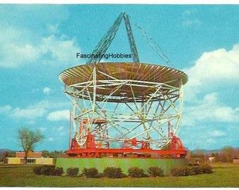 REBER DISH, Parabolic Telescope,- Green Bank , w. VIRGINIA.- years 1970 Mint  Vintage real Photo Postcard - back print historic, not written