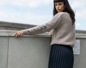 Braided Cuff Sweater - luxurious kid mohair and wool blend oversized jumper