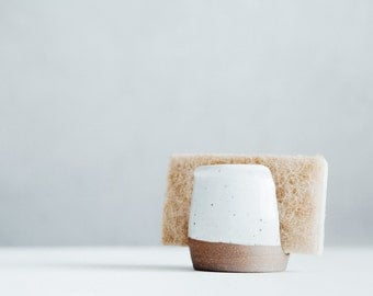 White Ceramic Sponge Holder