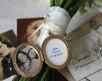 Wedding Bouquet Locket - Remembrance Locket - Personalised Locket - Wedding Keepsake