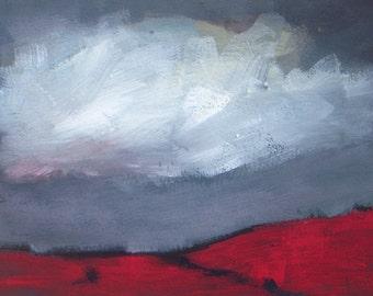 Harvest Warm - Original landscape painting - plein air - acrylic painting on fine art paper