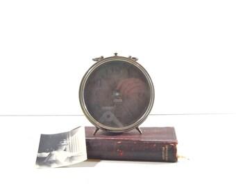 Vintage Simplex Alarm Clock, Antique Art Deco Clock