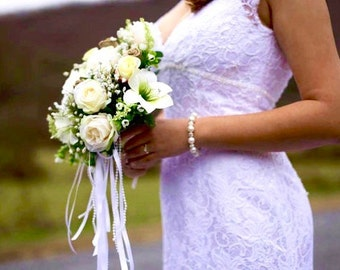 Pearl braclelet, Chunky Pearl Bracelet, Brides pearl bracelet, Bridesmaids pearl bracelet, Pearl wedding bracelet, Gift, LOLITA