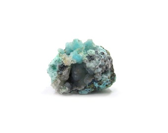 Chrysocolla Druzy Specimen 1 Raw Crystal 30mm x 31mm x 24mm Natural Rough Stone (Lot 9776) Mineral