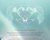 Rainbow Bridge Poem Print - PERSONALIZED 8x10 Print - Pet Sympathy - Pet Condolence - Pet Loss Gift - Rainbow Bridge Gift