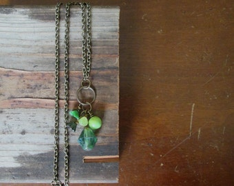 Woodland Greens Necklace boho rustic by Nancelpancel on Etsy