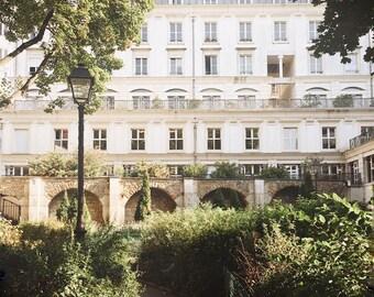 Paris architecture photo paris apartments picture Montmartre image paris travel photo white grey trees 8x10 gift under 50 dorm decor