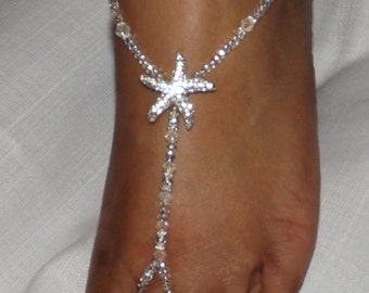 Barefoot Sandal Bridal Jewelry Wedding Foot Jewelry Beach Jewelry Anklet Beach Wedding Destination Wedding Bridal Accessorie