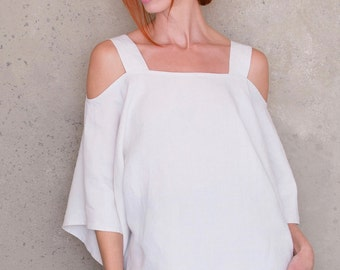 Women Sewing Patterns, Tunic Sewing Pattern, Blouse Pattern, Womens Top, Off The Shoulder, Cover up Pattern, Boho Dress Pattern