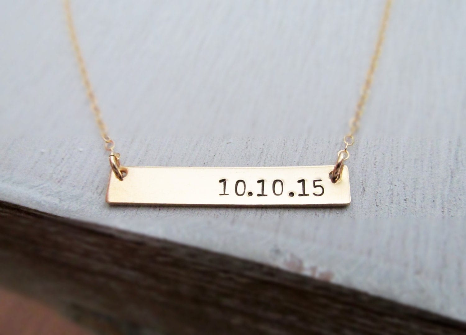 Gold Bar Necklace, Personalized Gold Bar Necklace, Customized Name ...