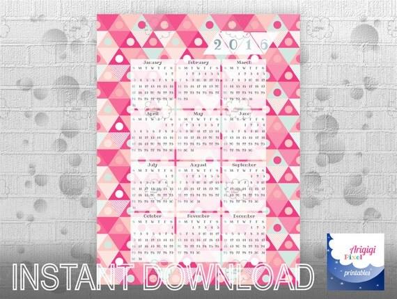 Calendar Poster Size : Items similar to wall calendar poster size