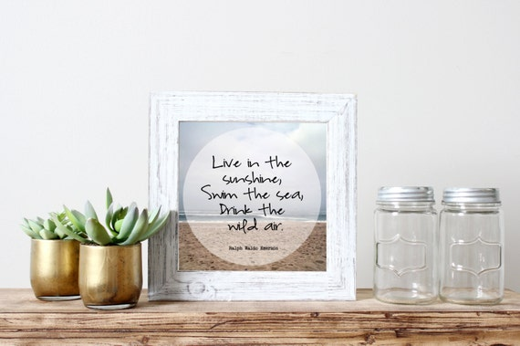 Beach Quotes Live In The Sunshine Swim The Sea By SparksOfLife