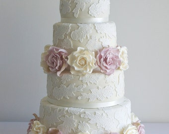 Wedding Cake Topper Silhouette Swans Love