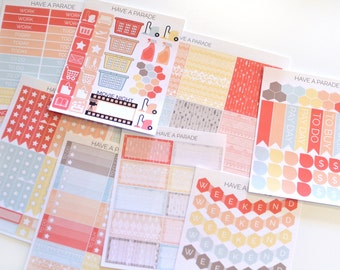 200+ Tribal Sticker Set in Coral for your Erin Condren Life Planner