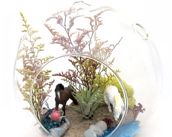 Wild Horses Plant Terrarium™ ~ Horse Decor ~ Equestrian Gifts ~ Rancher Ranch Decor ~ Birthday Gift For Mom Sister Wife Brother Best Friend