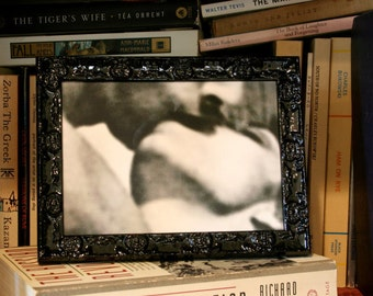 Ornate Black Picture Frames 4x4, 4x6, 5x7, 8x8, 8x10, 8.5x11, 12x12  Black Lacquer Picture Frame, Custom Sizes Picture Frames