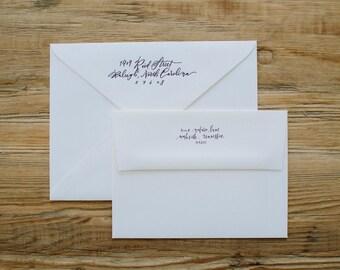 Calligraphy Return Address - Custom Handwritten Digital File