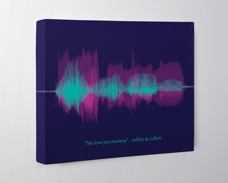 mothers day gift from kids voice art soundwave art canvas. Black Bedroom Furniture Sets. Home Design Ideas