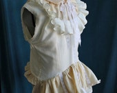 Victorian Steampunk Blouse Ruffle Explorer Wild Silk Top xs, s, m, l, or xl
