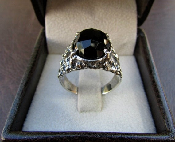 Sterling Silver Ring Black yx Ring Womens Rings by Silwomengolda
