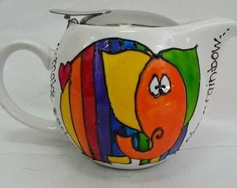 Rainbow Elephant Teapot