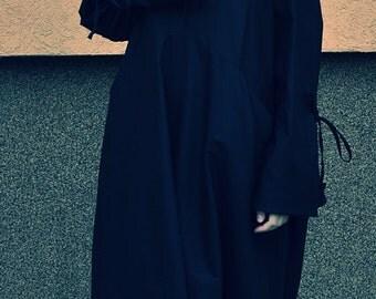 New! Oversize Asymmetrical Loose Dress / Maxi black dress / Extravagant Black Dress