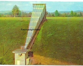 CALIBRATION HORN, National Astronomy Observatory - Green Bank, W. VIRGINIA,- Vintage Real Photo Postcard - years 1970 - very good condtion