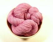 Hand Dyed Yarn - Sock Weight Superwash Merino Wool Yarn - Mallow - Knitting Yarn, Sock Yarn, Wool Yarn, Pink Tonal