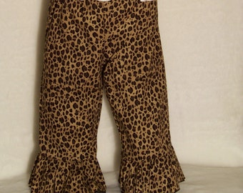 Cheetah Ruffle Pants or Shorts / Safari / Animal Print / Minnie Mouse / Disney / Birthday / Newborn / Baby/ Girl/ Toddler/ Boutique Clothing