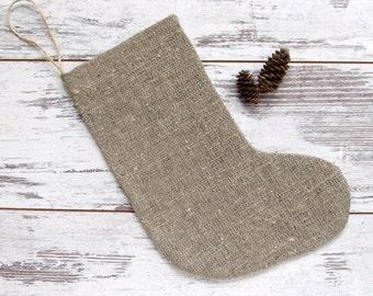 4 Burlap Christmas Stockings, Family Christmas stockings, Rustic burlap stockings, Christmas stockings